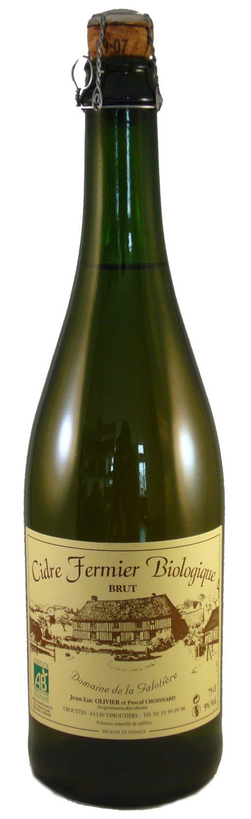 Cidre brut fermier Galotiere gemaakt door Domaine de La Galotière