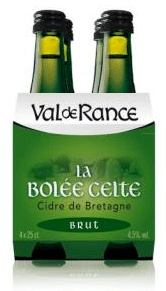 Val de Rance La Bolée Celte Brut 4 x 0,25 l gemaakt door Val de Rance